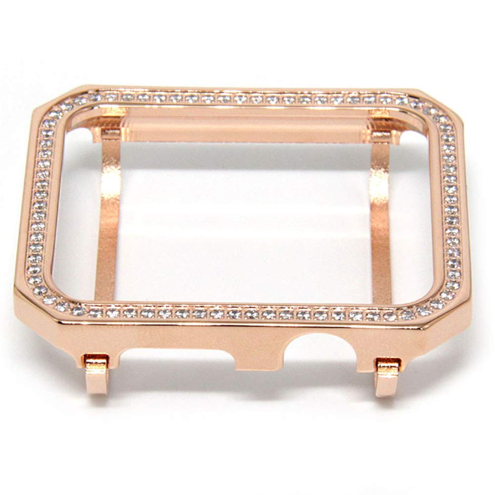 YALTOL for Iwatch/Apple Watch Series 4/3/2/1 Protection Frame with Rhinestone Diamond Metal Case Bezel,40mm,44mm,38mm,42mm,Rosegold,44mm