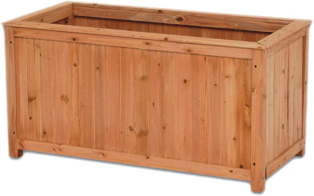 Portavaso Fioriera in legno baule cassa 90x45x45