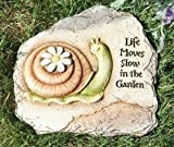 "Roman 10.75″H SNAIL GARDEN STONE ""EVERYTHING MOVES SLOW IN THE GARDEN"" Review"