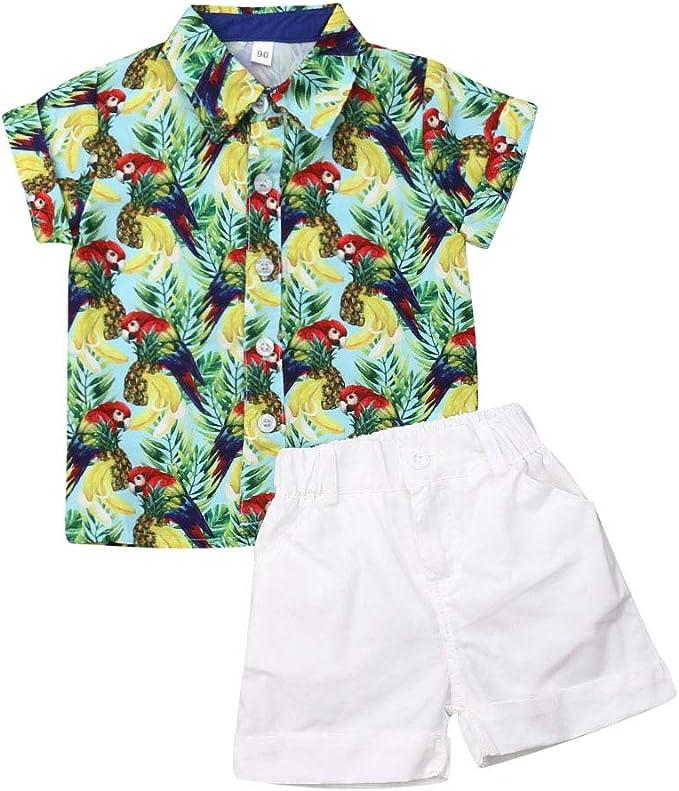 Ropa para BebéS Y NiñOs PequeñOs Camisa De Manga Corta con Estampado Animal Blusa Chaleco Tops Pantalones Cortos Pantalones: Amazon.es: Ropa y accesorios