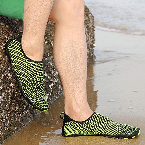 more photos a9060 27349 De Chaussure Plongée Enfant Femme Piscine Pour noir Plage Aquatique Sport  Natation Katliu Jaune Chaussons Homme ...