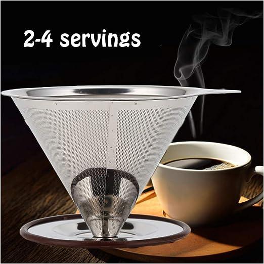 WMGVG Filtro De Café Sin Papel De Acero Inoxidable,Filtro ...
