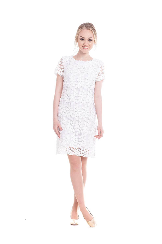White Lace Short Wedding Dress