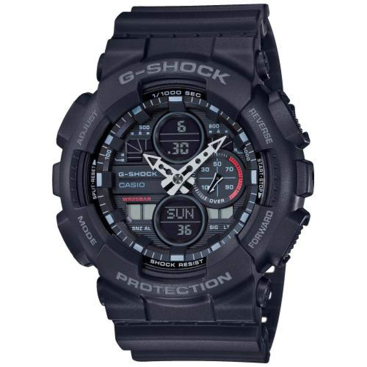 Mens Analogue-Digital Watch with Resin Strap GA-140-1A1ER -Black