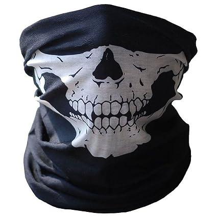 Amazon com : Newest Bicycle Ski Skull Half Face Mask Ghost