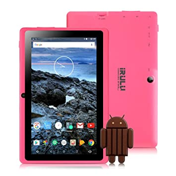 Tablet 7 Pulgadas Android 8.1 Quad Core 1024x600 Doble Cámara WiFi Bluetooth 1GB/8GB Google Play Store Netfilix Skype Juego 3D Compatible con GMS ...
