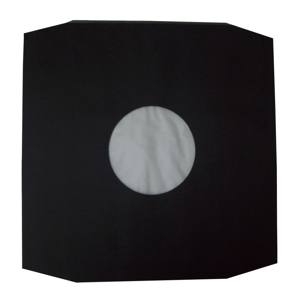 ALSO USE AS SCRATCH // MARK PROTECTION INSERTS FOR LARGER CARD SLEEVES SIZE 308 x 308mm 25 LARGE BLACK PAPER POLYLINED 12 LP RECORD VINYL INNER SLEEVES COVERS PROTECTORS WITH LARGE CENTRE HOLE PROTECTIVE PACKAGIN CLEAR PLASTIC POLYTHENE INNER LINER