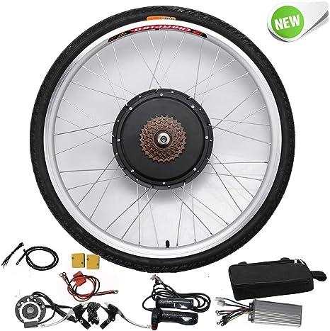Hansemay Kit de conversión de bicicleta eléctrica de 48V 1000W 26 Kit de conversión de motor de bicicleta eléctrica de la rueda trasera E-bike: Amazon.es: Deportes y aire libre