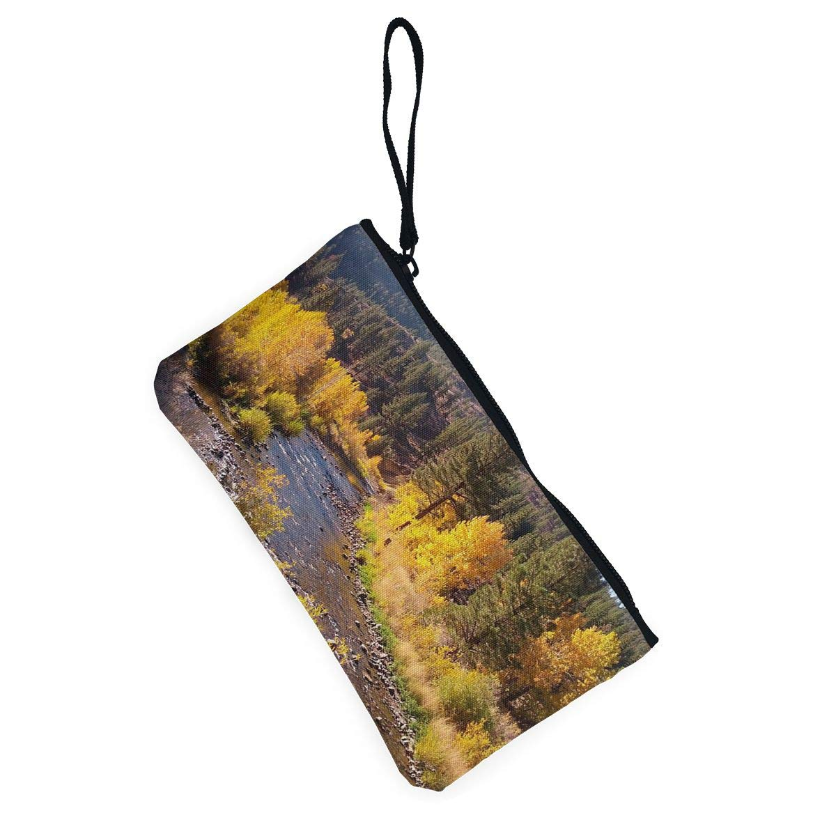 Maple Memories Scenery Photo Portable Canvas Coin Purse Change Purse Pouch Mini Wallet Gifts For Women Girls