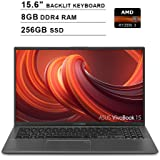 2019 ASUS VivoBook 15 15.6 Inch FHD 1080P Laptop (AMD Ryzen 3 3200U up to 3.5GHz, 8GB DDR4 RAM, 256GB SSD, AMD Radeon Vega 3, Backlit Keyboard, FP Reader, WiFi, Bluetooth, HDMI, Windows 10) (Grey)