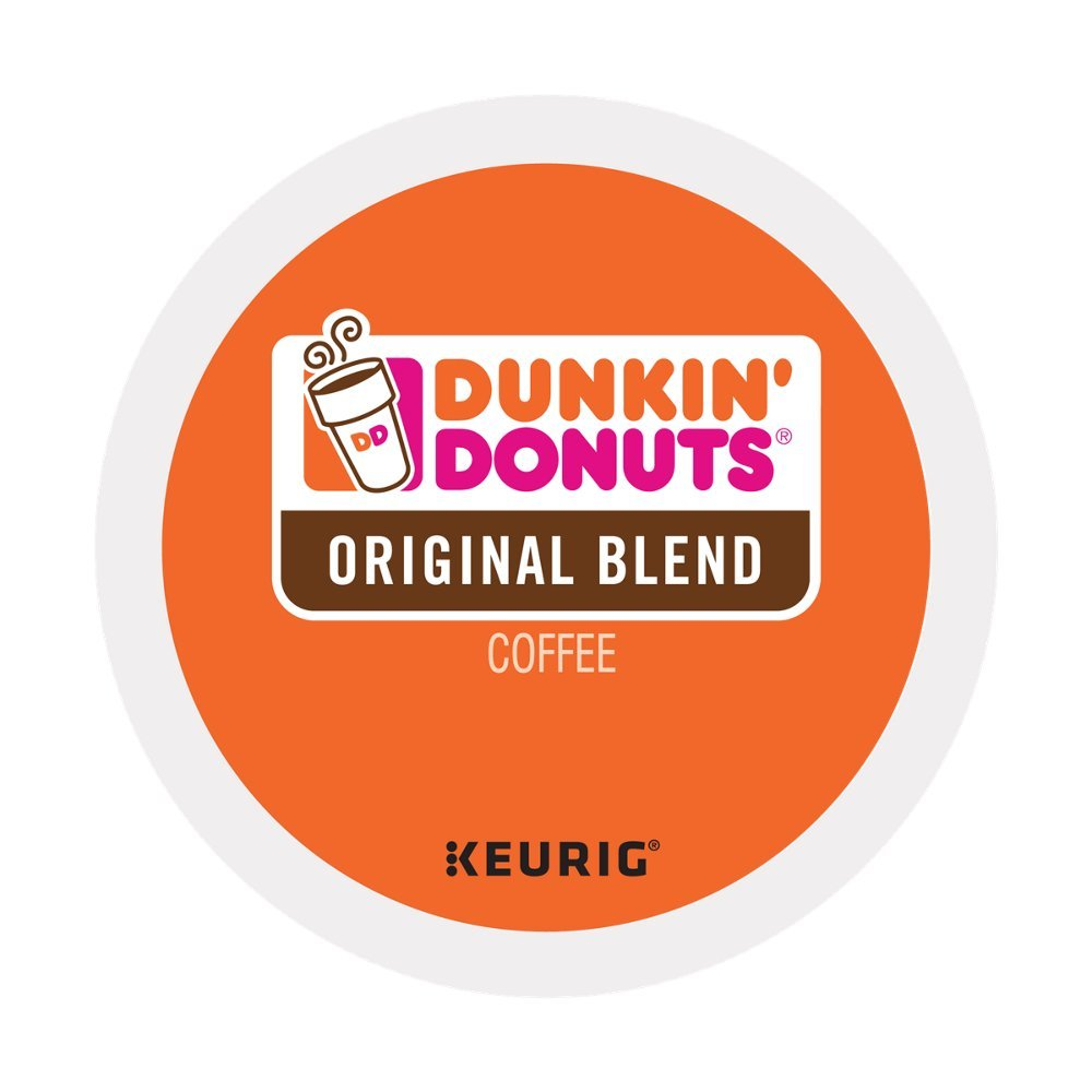 Dunkin' Donuts Original Blend Coffee for K Cup Pods, Medium Roast, for Keurig Brewers, 60Count (4 Boxes(60 Count))