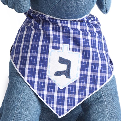 Tail Trends Christmas Dog Bandanas Dreidel Designer Appliques 100% Cotton (M)