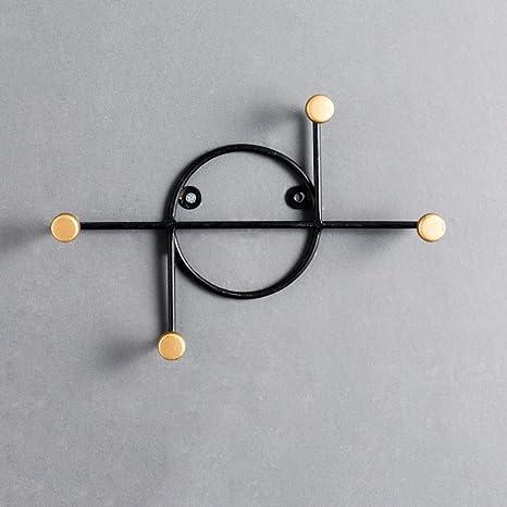 CWLLWC Gancho de suspensión, forja Creativa geométricas ...