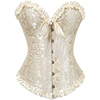Hengzhifeng Corsets and Bustiers for Women Boned Embroidered Top Plus Size