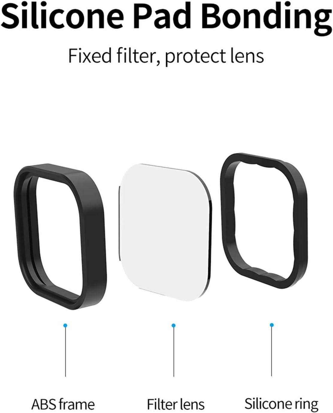 densidad neutra y polarizante kit de filtro de lente protector de lente para accesorios Go Pro 9 TELESIN Kit de filtro de lente ND8 ND16 ND32 CPL para c/ámara de acci/ón GoPro Hero 9