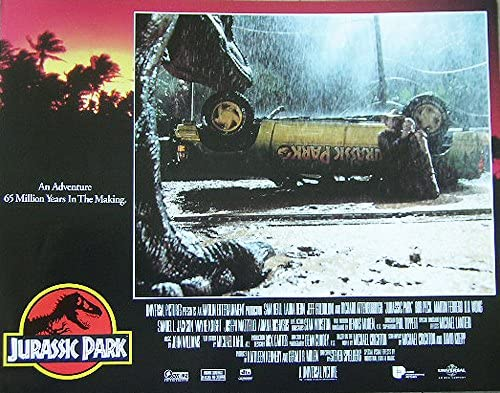 Amazon Com Jurassic Park 1993 Original Authentic 11x14 Lobby Card Movie Poster From The Sci Fi Classic Entertainment Collectibles