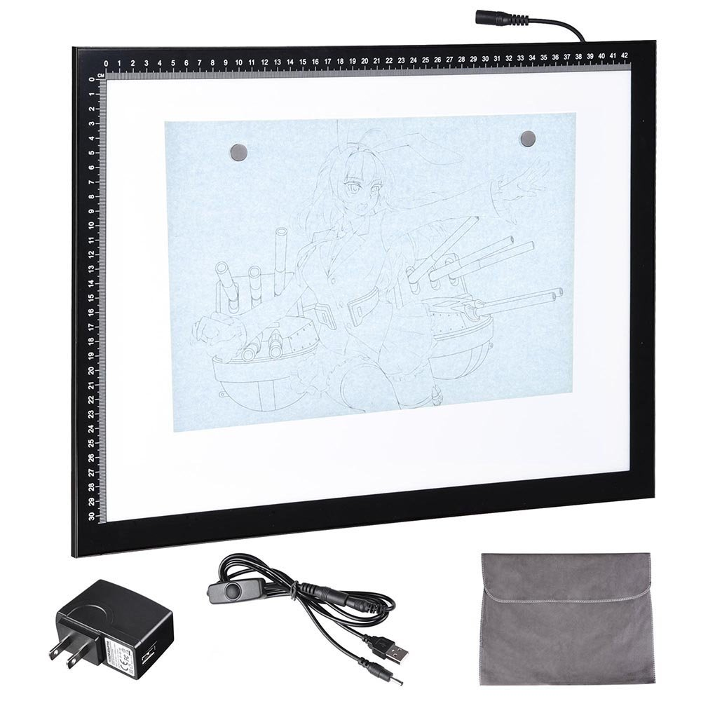 Yescom 19' A3 Artist LED Drawing Board USB Power Tracing Table Stencil Tattoo Display Light Box Sketching Animation BHBAZUKAZIND098