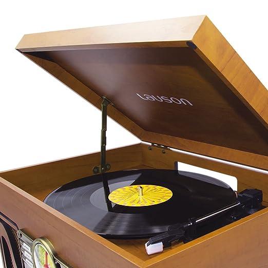 Amazon.com: Lauson CL506 nostálgico Classic Turntable Centro ...