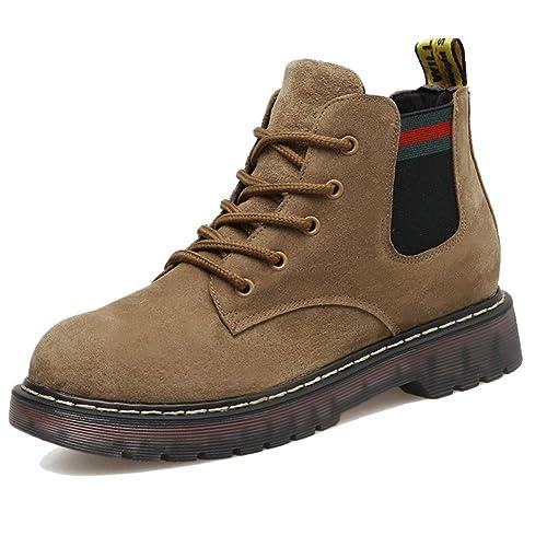 Martin Boots Botines Botas Zapatos JK300120 Botas Cortas de Moda Antideslizante Impermeable Moda Mujer,GJDE , 35 , khaki: Amazon.es: Zapatos y complementos