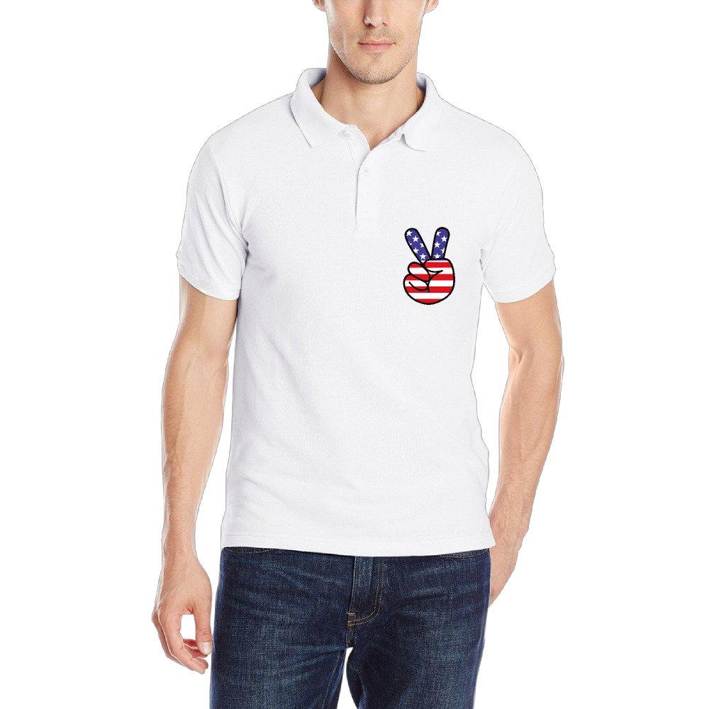 Algodón Bandera de Estados Unidos paz mano Yeh gesto de golf para ...