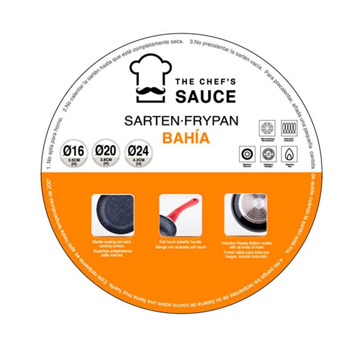 Chef Sauce CS-2002 Set de 3 sartenes en Aluminio prensado ...