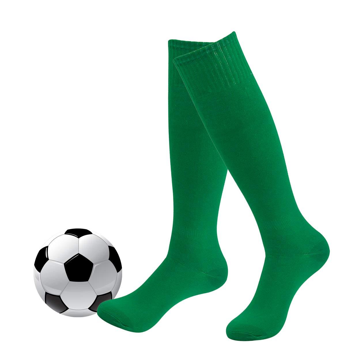 Football Socks,Fasoar Men's Women's Boys Long Softball Baseball Socks 2 Pairs Green by Fasoar
