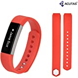 ACUTAS Silicone Replacement Band with Metal Clasp for Fitbit Alta HR and Alta Classic