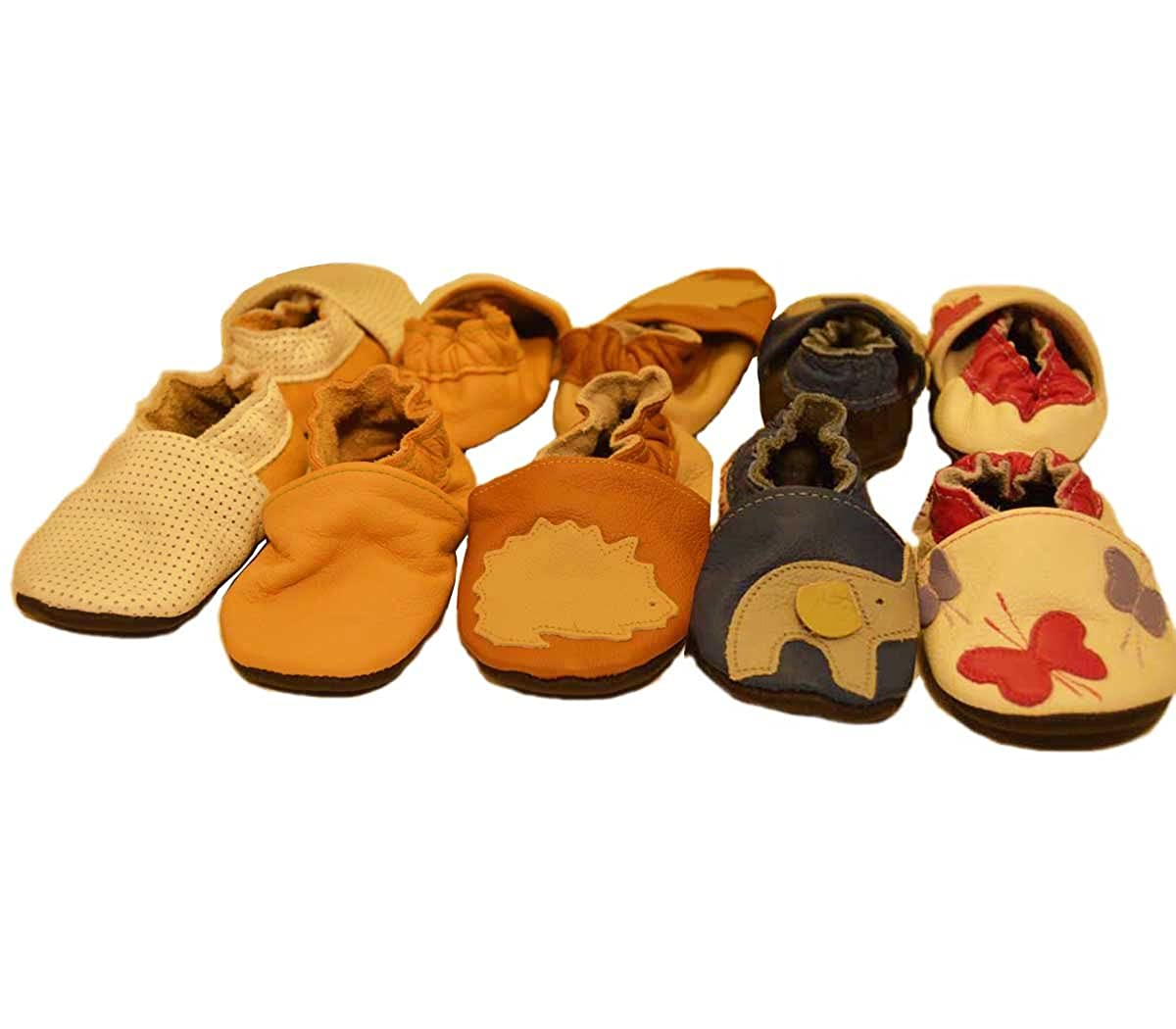 Mali Wear leather baby moccasins First Steps Soft Sole Shoes elephant