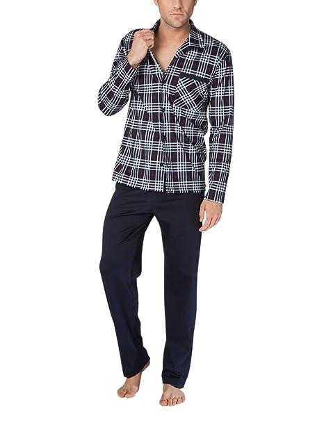 Calida Sean Pyjama, Conjuntos de Pijama para Hombre, Negro (Dark Night 439)