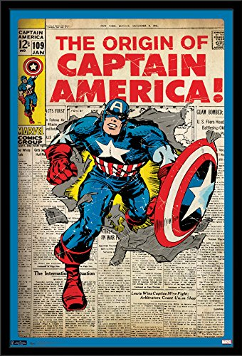 Trends International Wall Poster Captain America Cover, 24 x