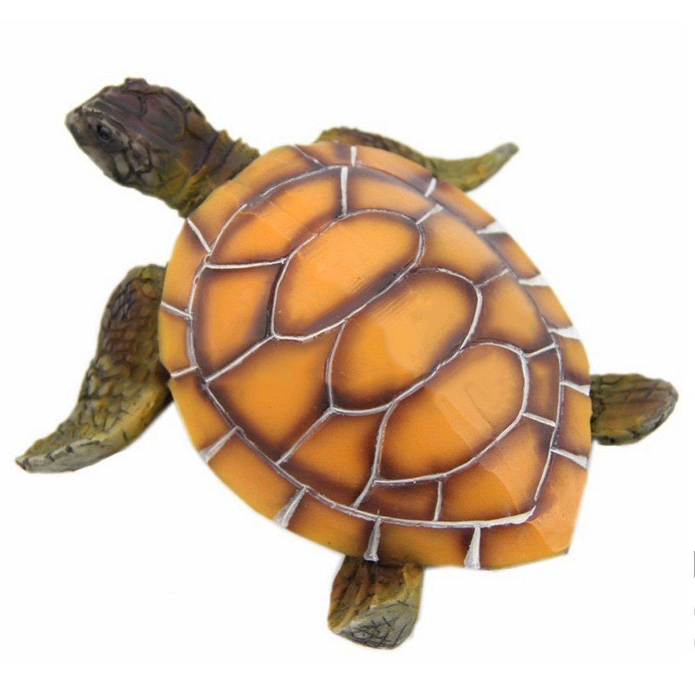 Mishiner Artificial Tortuga simulación Tortuga Acuario Ornamento Resina decoración pecera Accesorios decoración: Amazon.es: Productos para mascotas