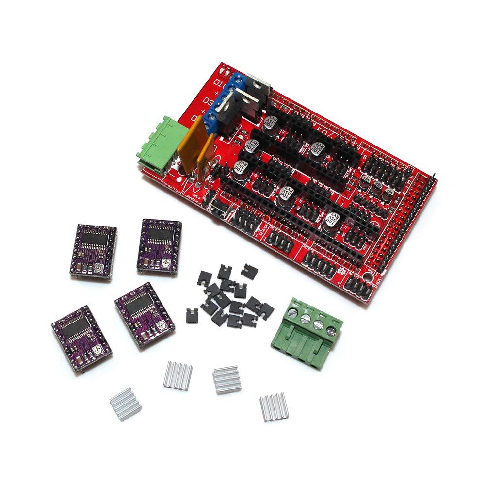 UsongShine - Kit de impresora 3D RAMPS 1.4 + 5 unidades A4988 ...