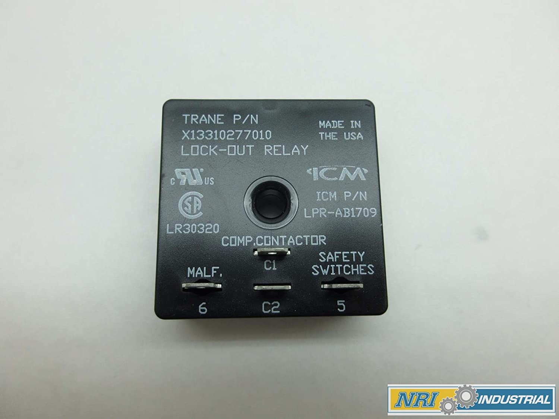TRANE X13310277010 24VAC LOCKOUT RELAY ICM LPRAB1709 D577405