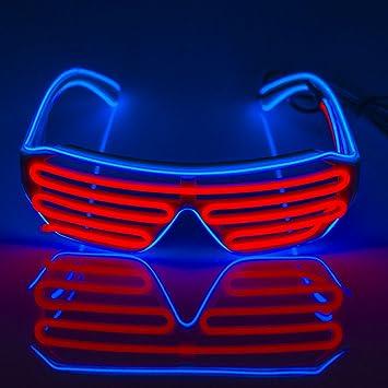 Amazon.com: Fronnor EL Glasses El Wire Fashion Neon LED Light Up ...