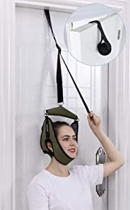 Cervical Neck Traction Over Door Cervical Traction Device for Cervical Spine Neck Stretcher for Physical Therapy Helps Neck Pain Relief, Arthritis, Disc Bulges