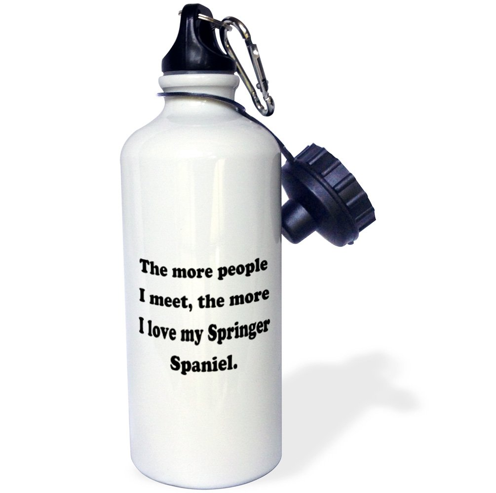 3dRose wb/_113639/_1The more people I meet the more I love my Springer Spaniel Sports Water Bottle White 21 oz