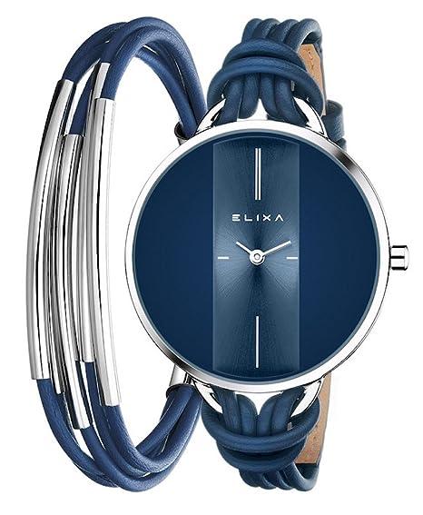 RELOJ ELIXA FINESSE + PULSERA 19CM SRA.: Amazon.es: Relojes