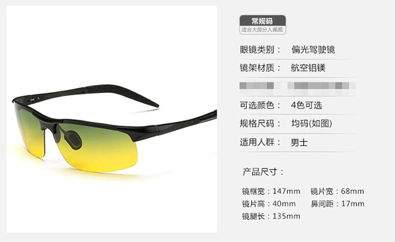Sucastle Día y noche doble propósito aluminio y magnesio polarizado gafas de visión nocturna anti-ultravioleta conducción ocio viajes espejo especial gafas ...
