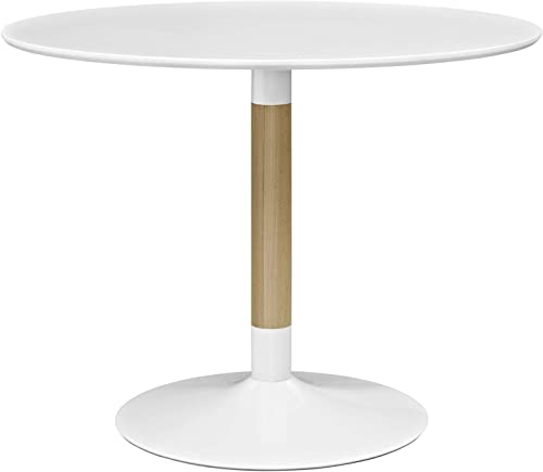 Modway Whirl 40 Contemporary Modern Round Kitchen and Dining Table in White