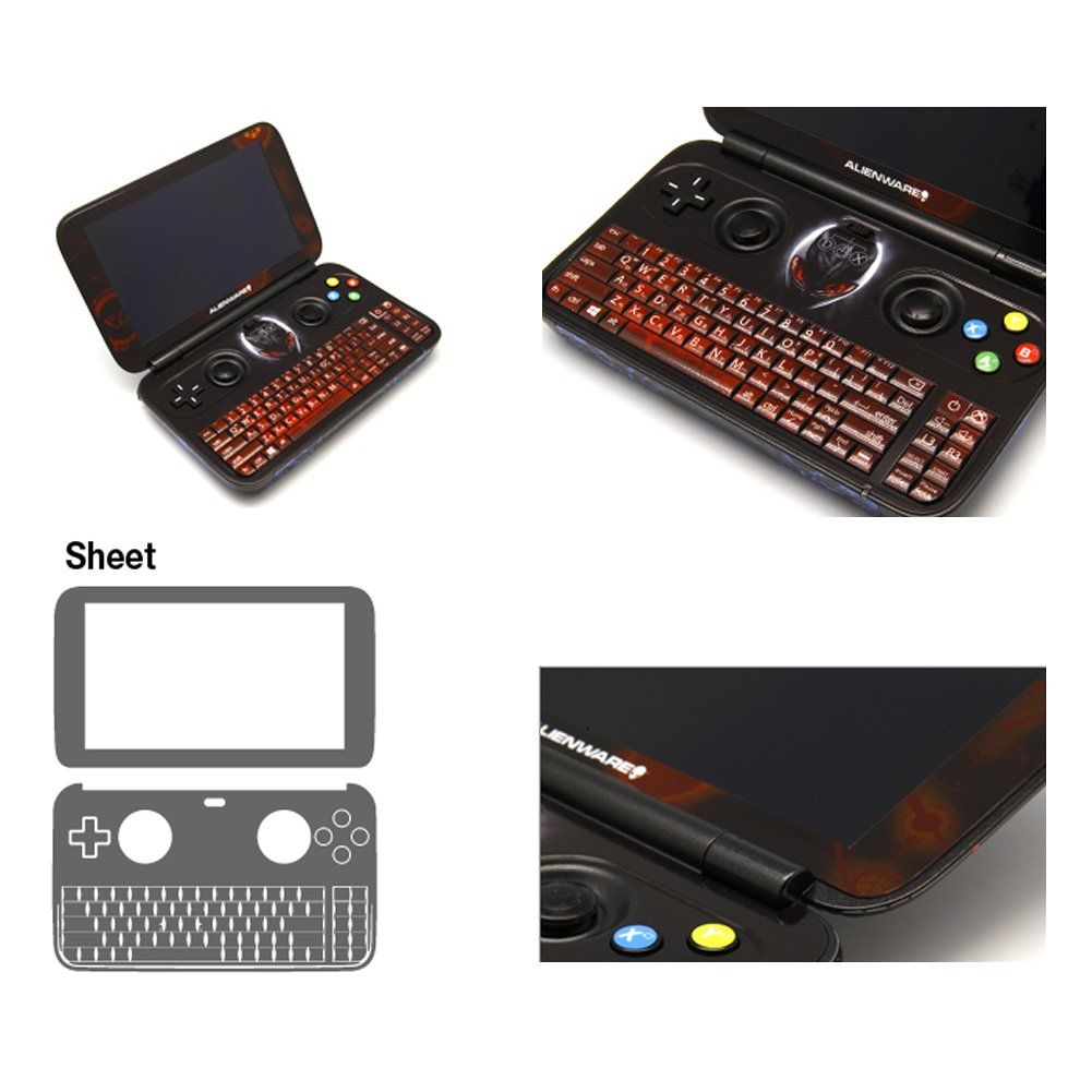 Skin Decal Stickers For GPD Win Console Inside Tuning Mapping POP SKIN Alienware #01