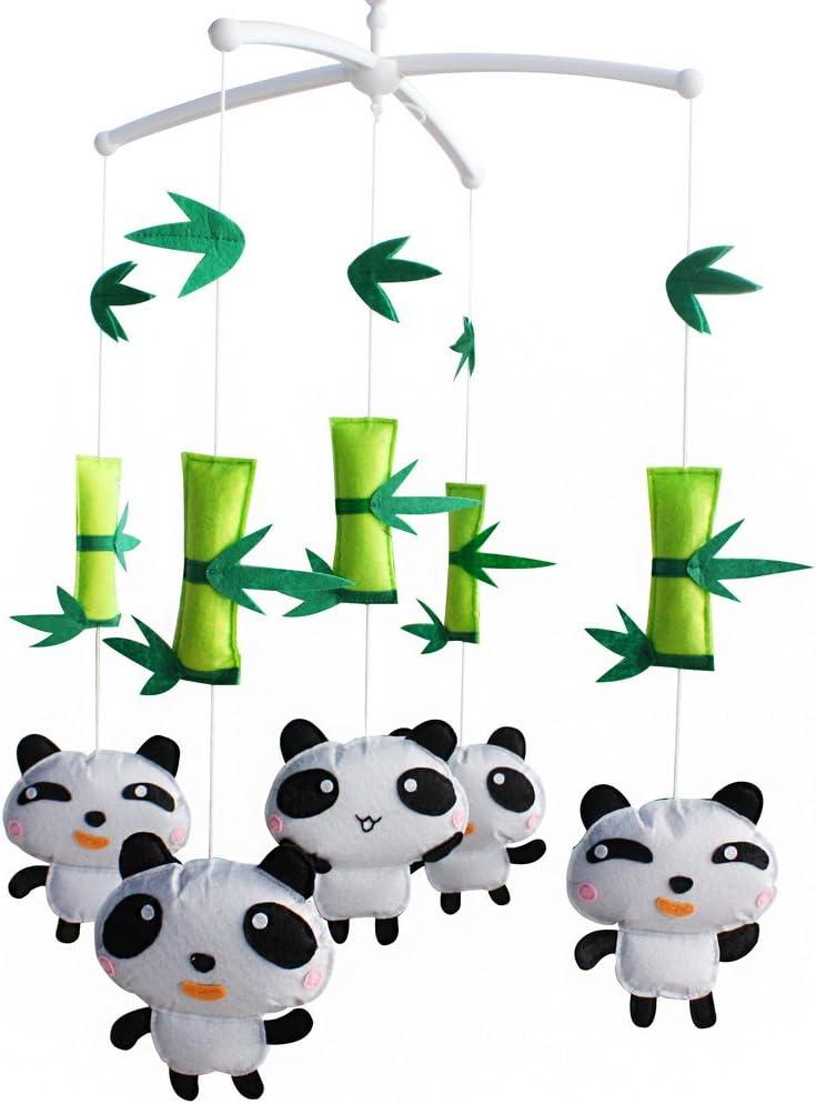 berceau mobile b/éb/é b/éb/é musical p/épini/ère animaux Panda mignon