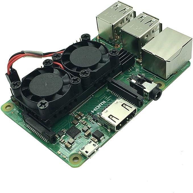 NESPi Case Plus Dual Fan Cooling System Module with Heatsink for Pi3 B+ Blueafflatus Raspberry Pi 3 Model B+