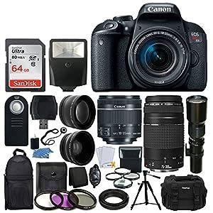 Canon EOS Rebel T7i DSLR Camera- Proffessional Accessory Bundle