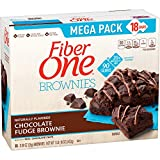 Fiber One 90 Calorie Brownies Mega Pack, Chocolate Fudge, 18-Count Box