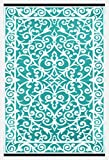 Green Decore Gala Outdoor/Plastic/Reversible Eco Rug (4 x 6, Blue Turquoise/White)