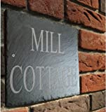 Beautiful Natural Slate House Sign 30cm x 25cm Traditional Rustic Finish