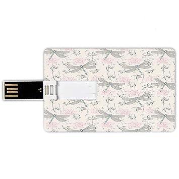 8GB Forma de tarjeta de crédito de unidades flash USB Libélula ...