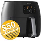 Philips Premium Collection Air Fryer XXL for Fry/Bake/Grill/Roast with Fat Removal and Rapid Air Technology, 1.4kg Capacity, Black, HD9650/93