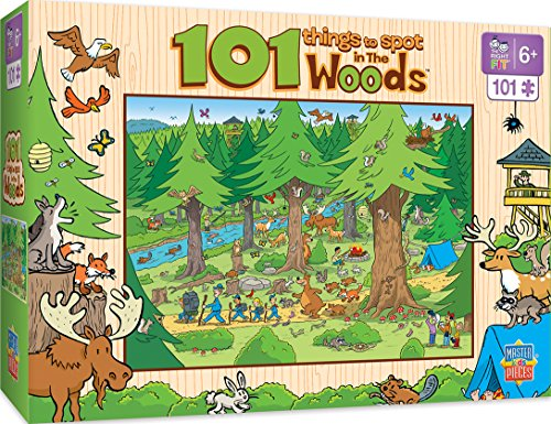 - MasterPieces 101 Things to Spot in the Woods - 101 Piece Kids Puzzle