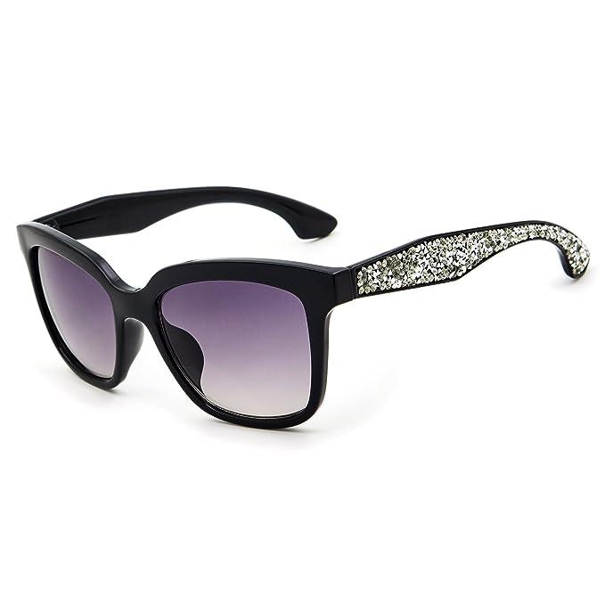 Amazon.com: leckirut mujeres moda anteojos de sol protección ...